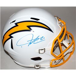 LaDainian Tomlinson Signed Chargers Color Rush Full-Size Speed Helmet (Tomlinson Hologram)