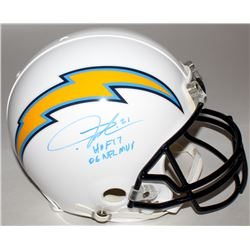 "LaDainian Tomlinson Signed Chargers Full-Size Authentic On-Field Helmet Inscribed ""HOF 17""  ""06 NFL"