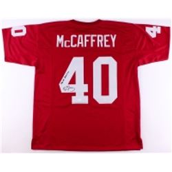 "Ed McCaffrey Signed Stanford Cardinal Jersey Inscribed ""1990 All American"" (JSA COA)"