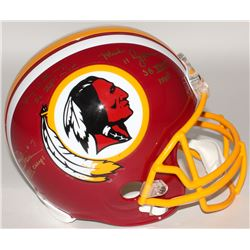 Mark Rypien, Joe Theismann,  Doug Williams Signed Full-Size Authentic On-Field Helmet with (3) Super