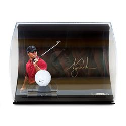 Tiger Woods Signed 8x10 Limited Edition Photo Display with Range Driven Ball (UDA)