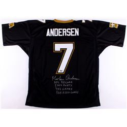Morten Andersen Signed Saints Jersey With (4) Career Stat Inscriptions (Radtke COA)