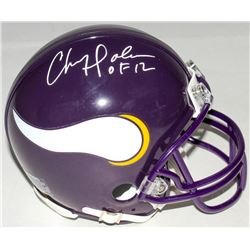"Chris Doleman Signed Vikings Mini-Helmet Inscribed ""HOF 12"" (Radtke COA)"