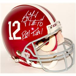 "AJ McCarron Signed Alabama Crimson Tide Full-Size Authentic On-Field Helmet Inscribed ""Roll Tide!"" ("
