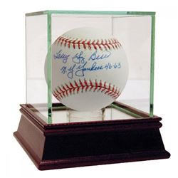 "Larry Yogi Berra Signed OAL Baseball Inscribed ""NY Yankees 46-63"" (JSA Hologram)"
