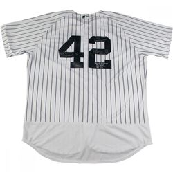 Mariano Rivera Signed New York Yankees Authentic Jersey Inscribed With 'World Series Stats' (Steiner