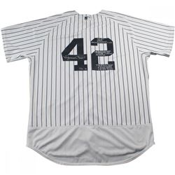 Mariano Rivera Signed New York Yankees Authentic Jersey Inscribed With 'Career Achievements' (Steine