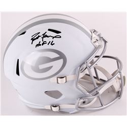 "Brett Favre Signed LE Packers Full-Size White ICE Helmet Inscribed ""HOF 16"" (Radtke COA)"