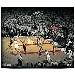 LeBron James Signed Heat The Shot 20x24 Photo (UDA COA)