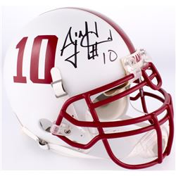 A.J. McCarron Signed Alabama Crimson Tide Full-Size Custom White Matte Authentic On-Field Helmet (Ra