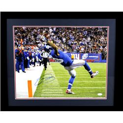Odell Beckham Jr. Signed Giants 23x27 Custom Framed Photo Display (JSA COA)