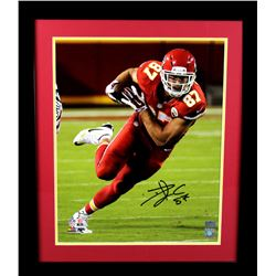 Travis Kelce Signed Cheifs 23x27 Custom Framed Photo Display (Radtke COA)