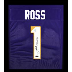 John Ross Signed Washington Huskies 23x27 Custom Framed Jersey (Ross Hologram)