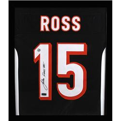 John Ross Signed Bengals 23x27 Custom Framed Jersey (Ross Hologram)