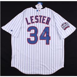 Jon Lester Signed Cubs 2016 World Series Jersey (Schwartz COA)