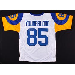 "Jack Youngblood Signed Rams Jersey Inscribed ""HOF 01"" (Schwartz COA)"