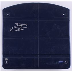 Emmitt Smith Signed Game-Used Dallas Cowboys Blue Stadium Seat Bottom (Schwartz COA)