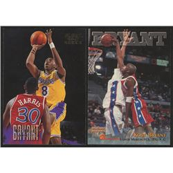 Lot of (2) Kobe Bryant Rookie Cards with 1996 Score Board Autographed BK #15  1996-97 Fleer European