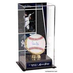 "Aaron Judge Signed ""2017 Rookie of the Year"" 10x5x5.5 Baseball with Display Case (Fanatics)"