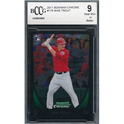 2011 Bowman Chrome #175 Mike Trout RC (BCCG 9)