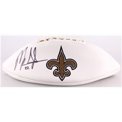 Mark Ingram Signed Saints Logo Football (Radtke COA  Ingram Hologram)