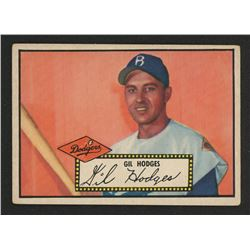 1952 Topps #36A Gil Hodges Black
