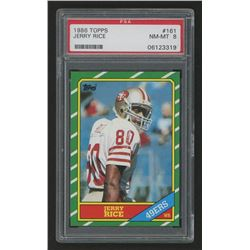 1986 Topps #161 Jerry Rice RC  (PSA 8)