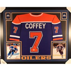 Paul Coffey Signed Royals 35x43 Custom Framed Jersey Display (JSA COA)