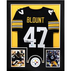 "Mel Blount Signed Steelers 34x42 Custom Framed Jersey Inscribed ""HOF 89"" (Radtke COA)"