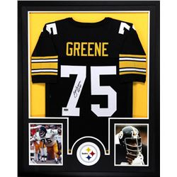 "Joe Greene Signed Steelers 34x42 Custom Framed Jersey Inscribed ""HOF 87"" (Radtke COA)"