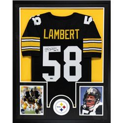 "Jack Lambert Signed Steelers 34x42 Custom Framed Jersey Inscribed ""HOF 90"" (Radtke COA)"