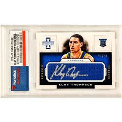 Klay Thompson Signed 2012-13 Innovation Rookie Jumbo Jerseys #22 (Fanatics Encapsulated)