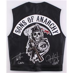 "Tommy Flanagan  Ryan Hurst Signed ""Sons of Anarchy"" Vest Inscribed ""Chibs""  ""Opie"" (Radtke COA)"