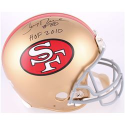 "Jerry Rice Signed 49ers Throwback Full-Size Authentic On-Field Helmet Inscribed ""HOF 2010"" (Rice Hol"