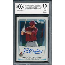 2011 Bowman Chrome Prospect Autographs #BCP99 Paul Goldschmidt (BCCG 10)
