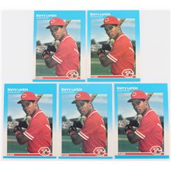 Lot of (5) 1987 Fleer #204 Barry Larkin RC