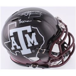 "Johnny Manziel Signed Texas AM Speed Mini-Helmet Inscribed ""'12 Heisman"" (JSA COA)"