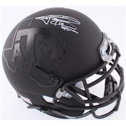 Johnny Manziel Signed Texas AM Custom Matte Black Mini-Helmet (JSA COA)