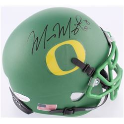 Marcus Mariota Signed Oregon Ducks Custom Matte Green Mini Helmet (JSA COA  Mariota Hologram)