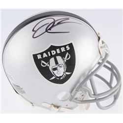 Derek Carr Signed Raiders Mini Helmet (Beckett COA)