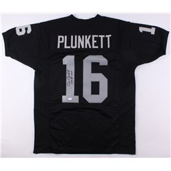 "Jim Plunkett Signed Raiders Jersey Inscribed ""S.B. XV MVP"" (JSA COA)"