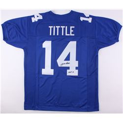 "Y. A. Tittle Signed Giants Jersey Inscribed ""HOF 71"" (JSA COA)"