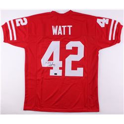 T. J. Watt Signed Wisconsin Badgers Jersey (JSA COA  Watt Hologram)