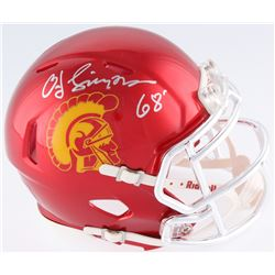 "O.J. Simpson Signed USC Trojans Mini Speed Helmet Inscribed ""Heisman 68'"" (JSA COA)"
