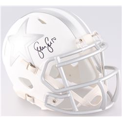 Sean Lee Signed Cowboys Custom Matte White ICE Mini Speed Helmet (JSA COA)