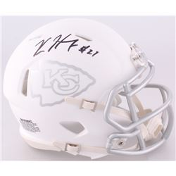Kareem Hunt Signed Chiefs Custom Matte White ICE Speed Mini-Helmet (JSA COA)