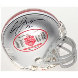 Cardale Jones Signed Ohio State Buckeyes 2014 National Championship Mini-Helmet (Radtke COA)