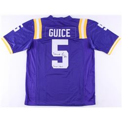 """Derrius Guice Signed LSU Tigers Jersey Inscribed """"Geaux Tigers"""" (JSA Hologram)"""