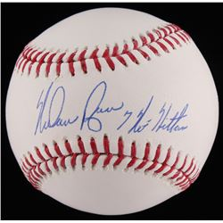 "Nolan Ryan Signed OML Baseball Inscribed ""7 No Hitters"" (JSA COA  Ryan Hologram)"