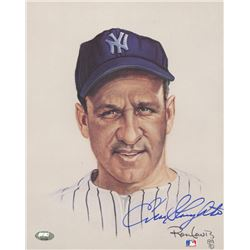 Enos Slaughter Signed LE Yankees 8x10 Photo  (FSC COA)